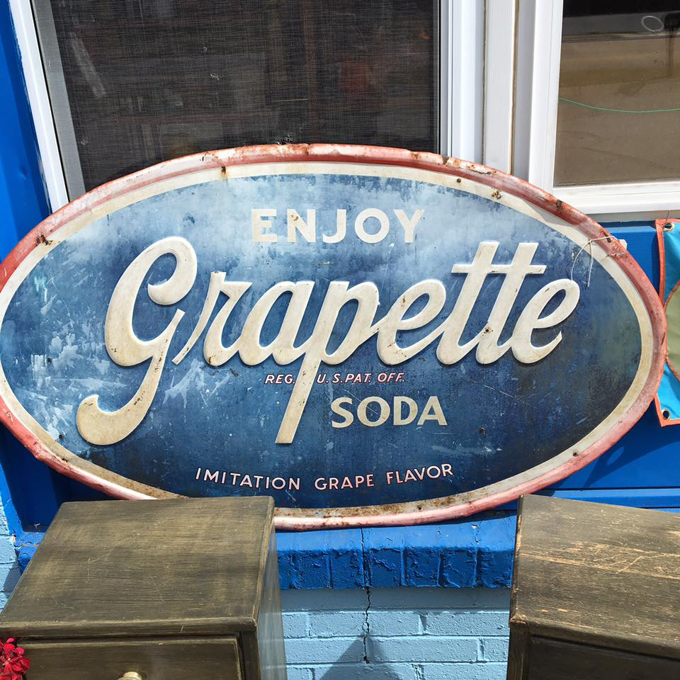 vintage grapette soda sign