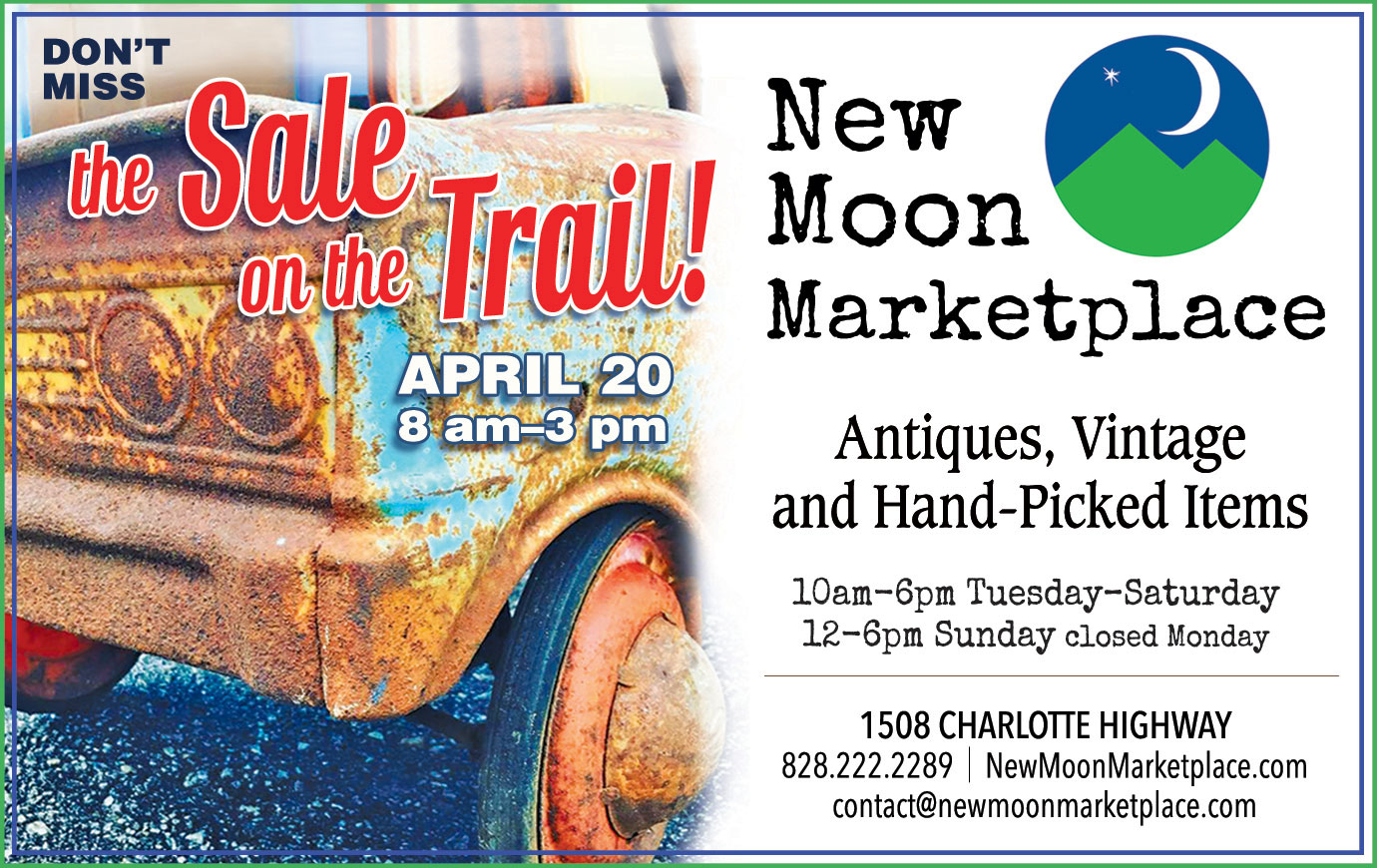 Events | New Moon Marketplace | Antiques, Collectibles